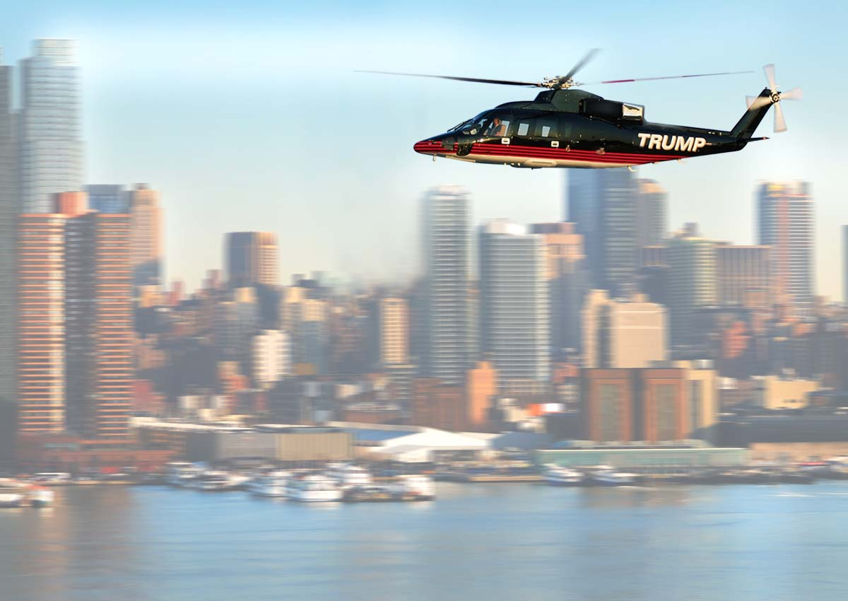 donald trump helicopter paint exterior