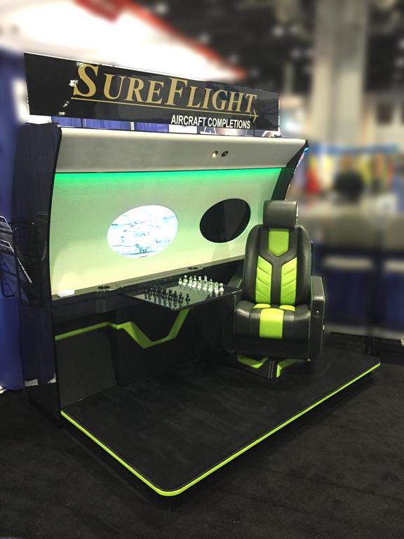SureFlight Tradeshow Booth