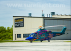 Custom Painted AW139 leaving SureFlight
