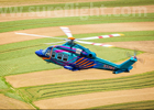 Custom Painted AW139 in flight